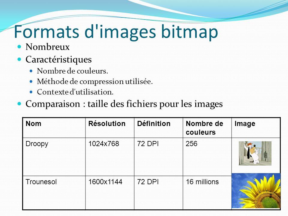 Formats d images bitmap