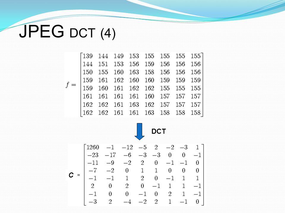 JPEG DCT (4) DCT C