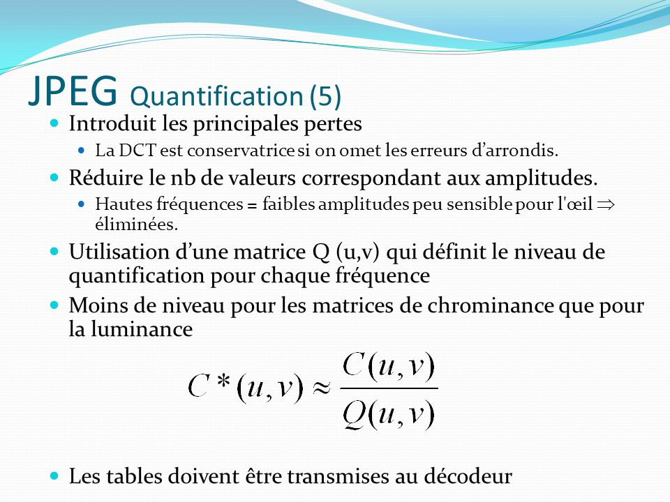 JPEG Quantification (5)