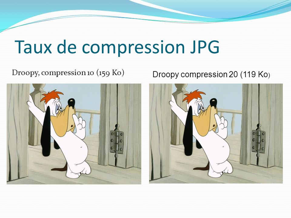 Taux de compression JPG