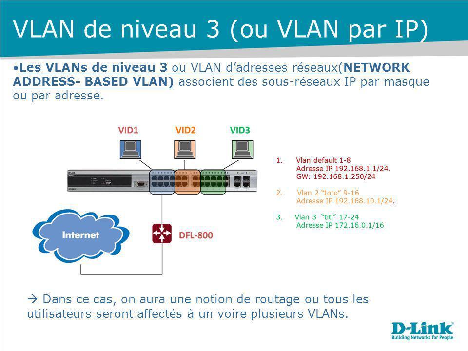 VLAN de niveau 3 (ou VLAN par IP)