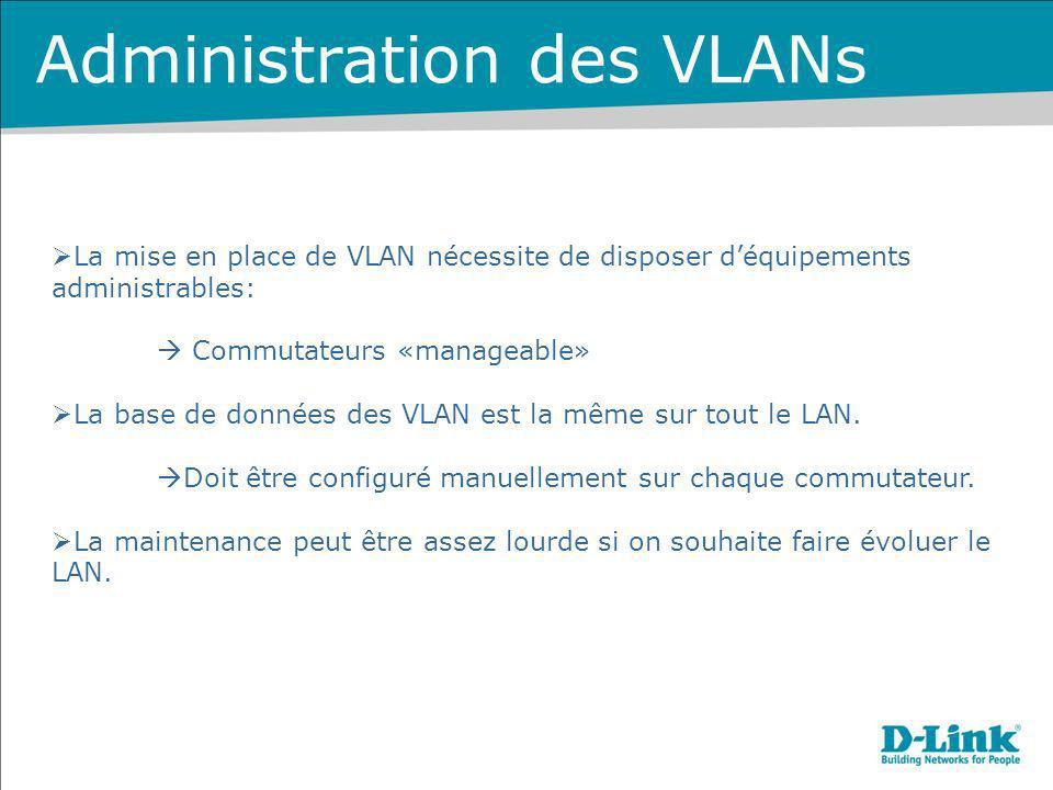 Administration des VLANs
