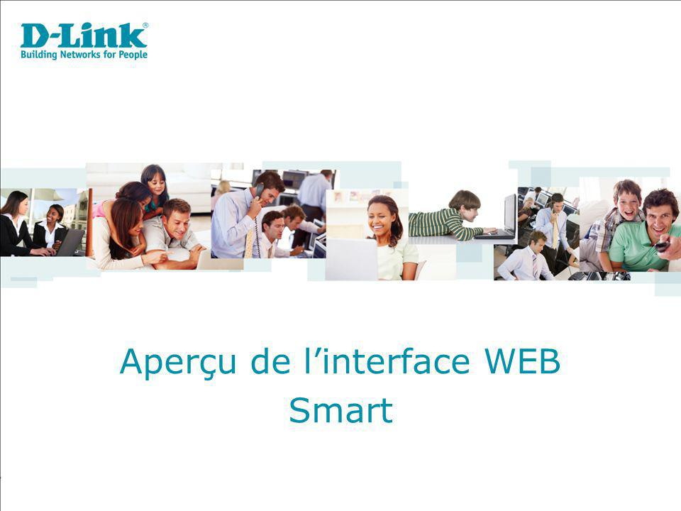 Aperçu de l'interface WEB
