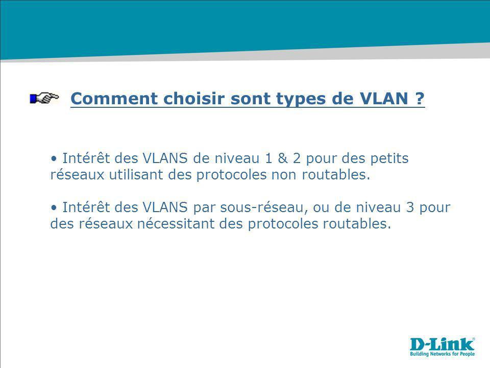 Comment choisir sont types de VLAN