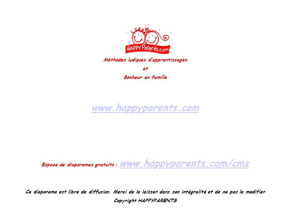 www.happyparents.com Méthodes ludiques d'apprentissages et