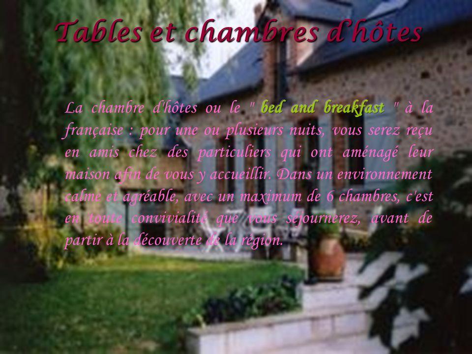 Tables et chambres d'hôtes