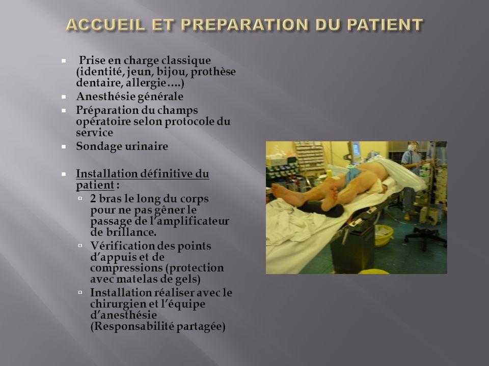 ACCUEIL ET PREPARATION DU PATIENT