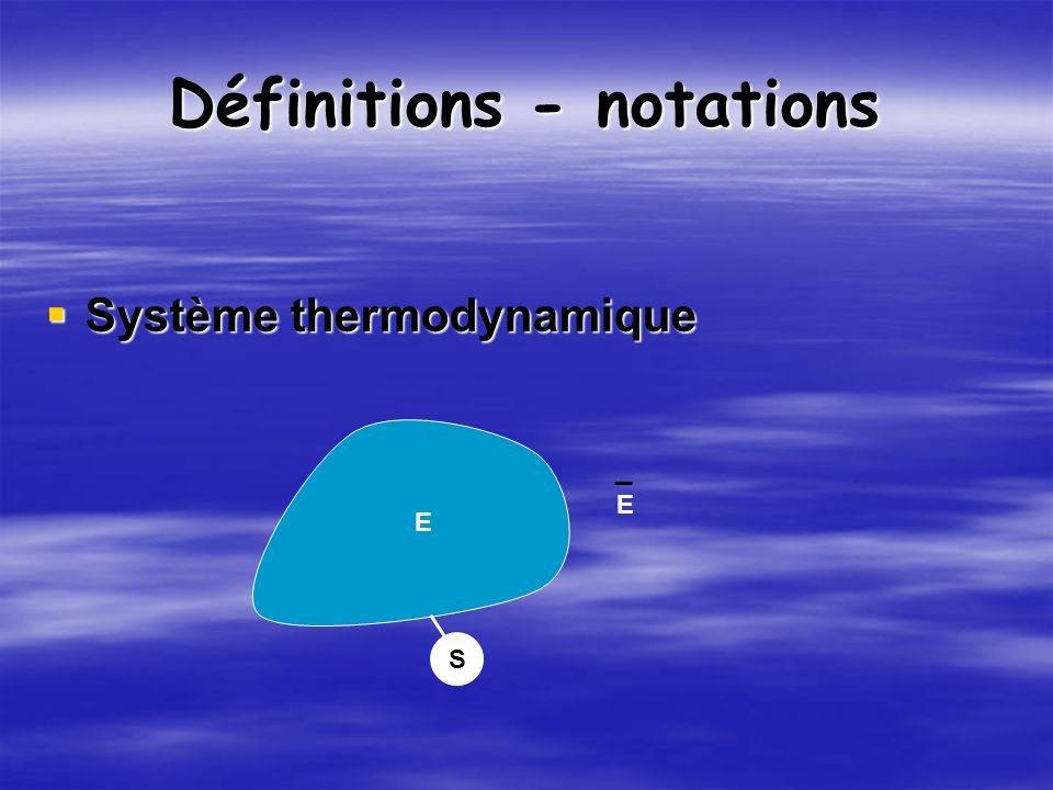 Définitions - notations