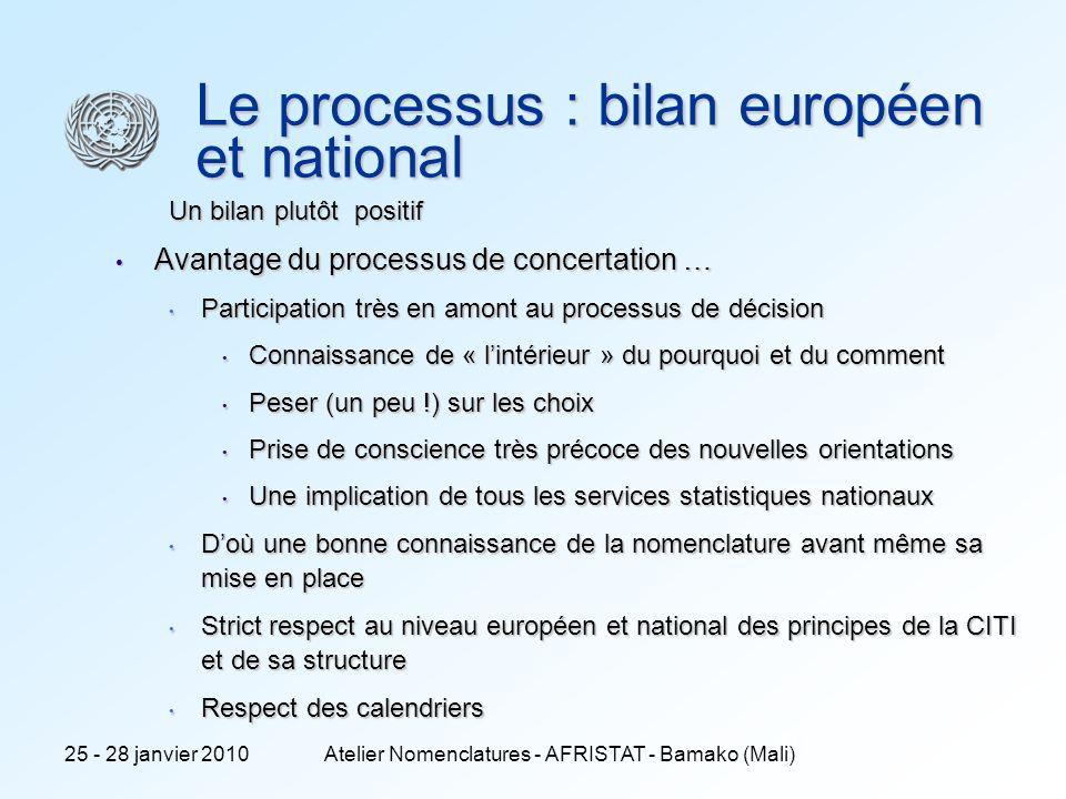 Le processus : bilan européen et national