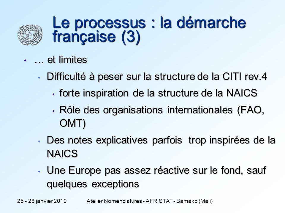 Le processus : la démarche française (3)