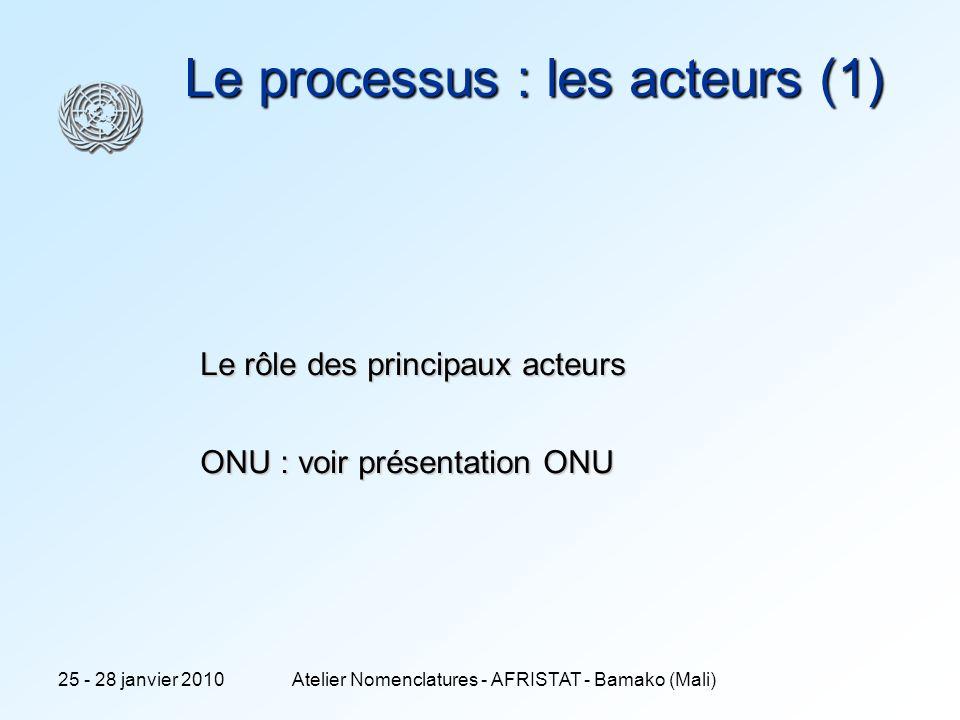 Le processus : les acteurs (1)