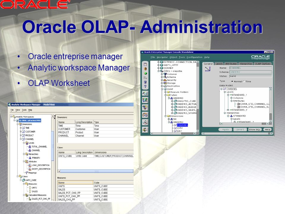 Oracle OLAP- Administration