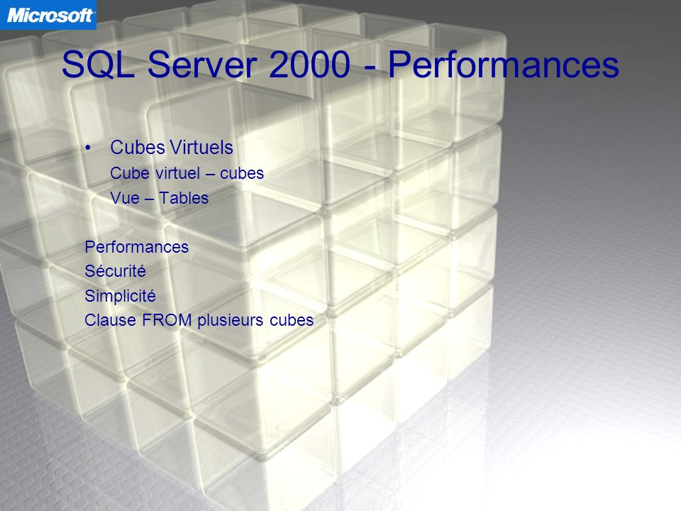 SQL Server 2000 - Performances