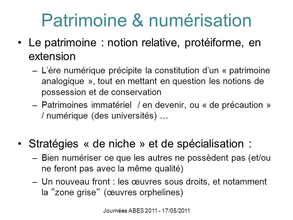 Patrimoine & numérisation