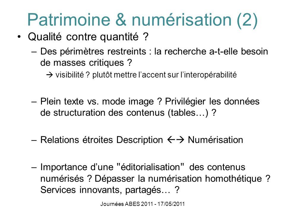 Patrimoine & numérisation (2)