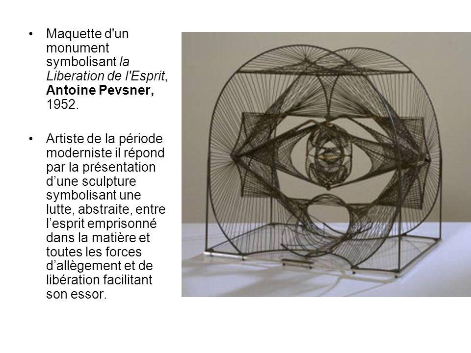 Maquette d un monument symbolisant la Liberation de l Esprit, Antoine Pevsner, 1952.