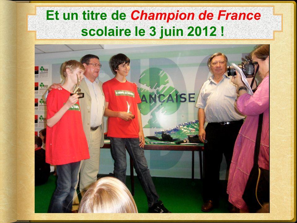 Et un titre de Champion de France