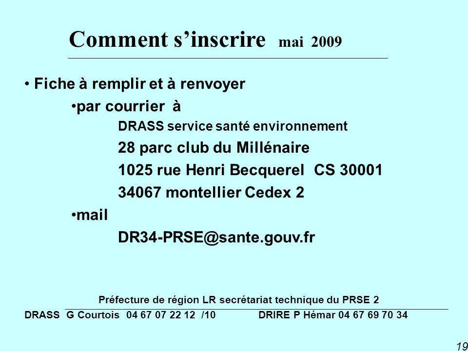 Préfecture de région LR secrétariat technique du PRSE 2
