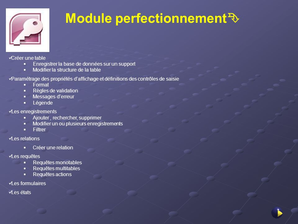 Module perfectionnement