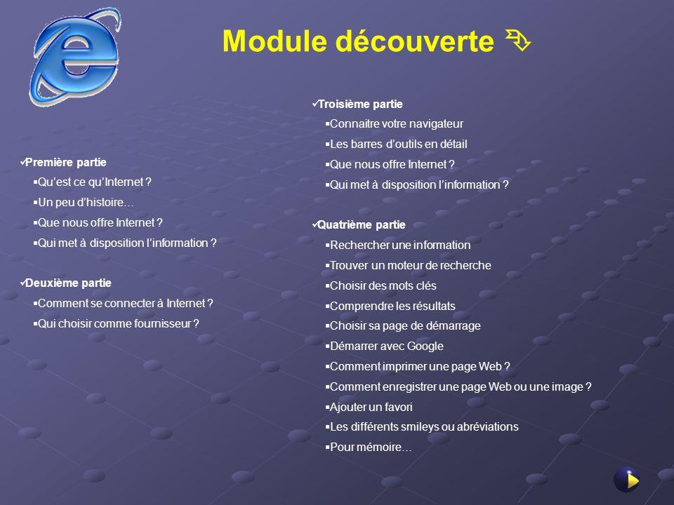 Module découverte  Troisième partie Connaitre votre navigateur
