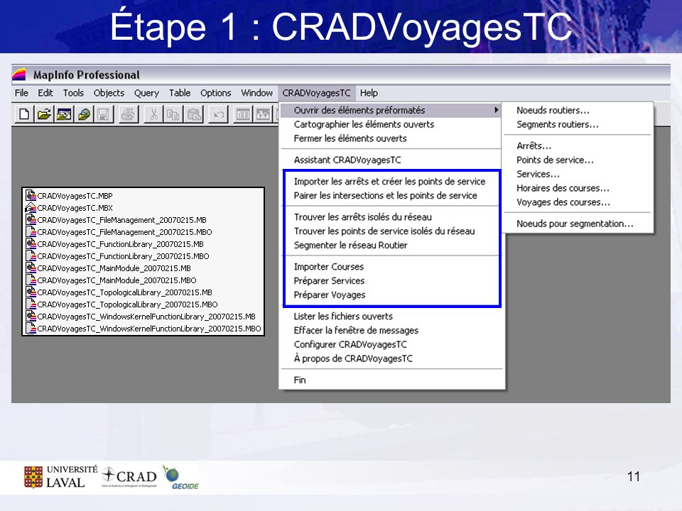 Étape 1 : CRADVoyagesTC 3. BEHAVIORAL IMPEDANCE
