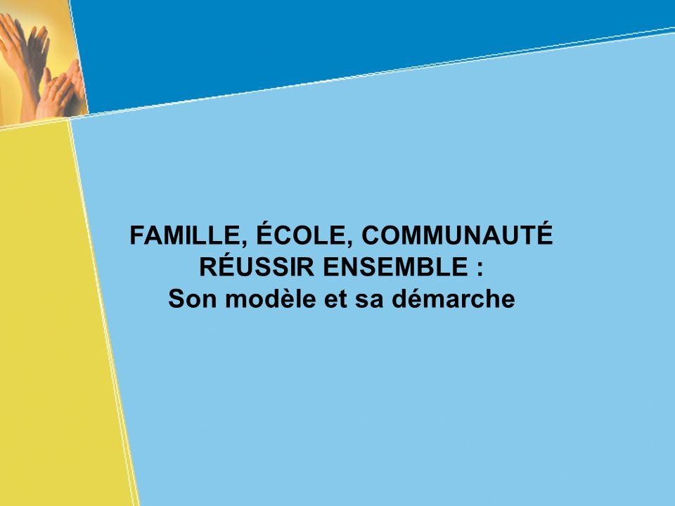 FAMILLE, ÉCOLE, COMMUNAUTÉ RÉUSSIR ENSEMBLE :