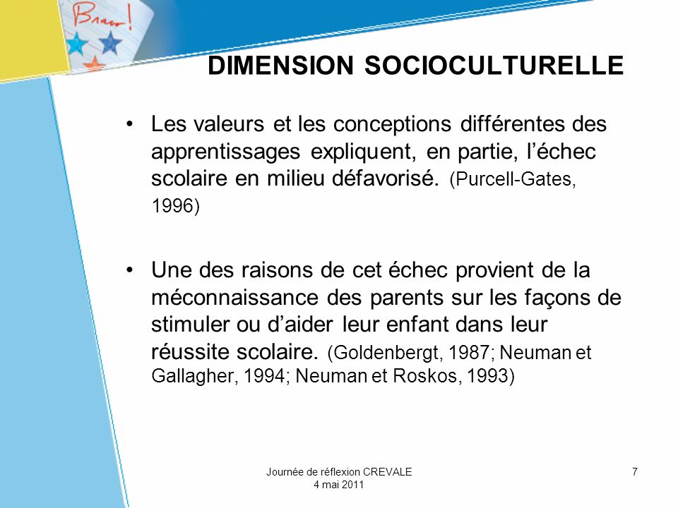 DIMENSION SOCIOCULTURELLE