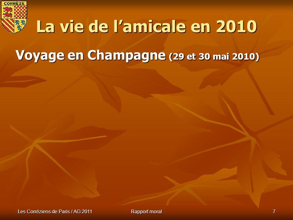 La vie de l'amicale en 2010 Voyage en Champagne (29 et 30 mai 2010)