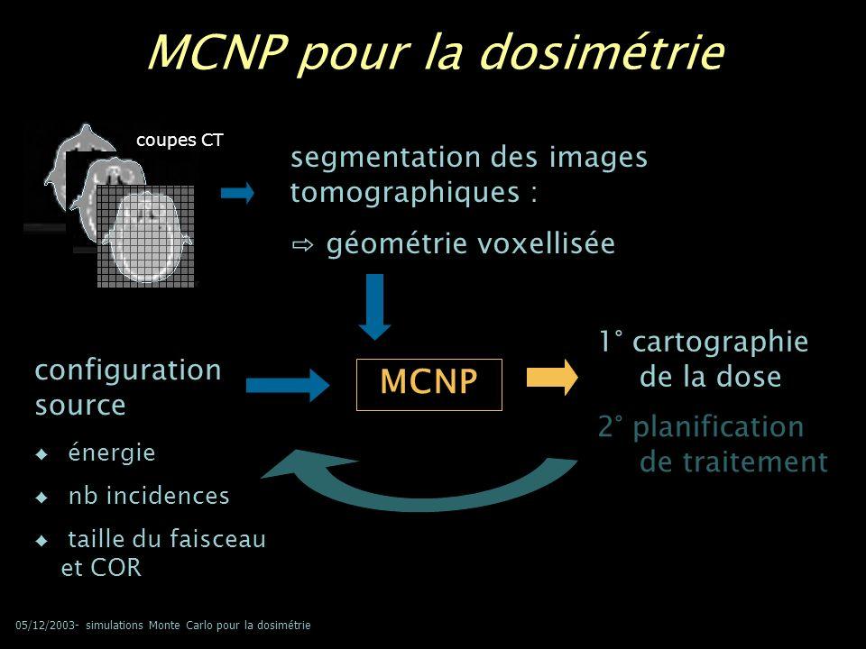 MCNP pour la dosimétrie