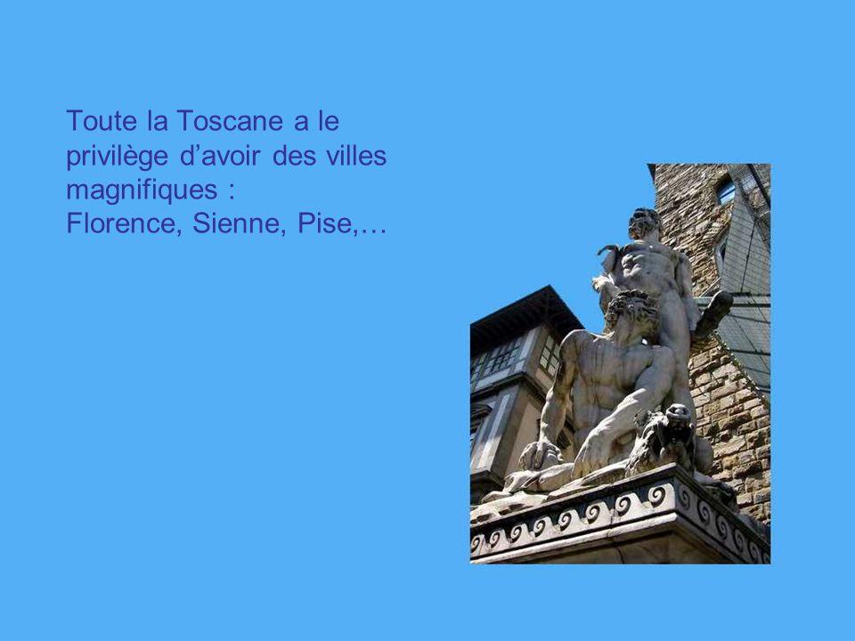 Toute la Toscane a le privilège d'avoir des villes magnifiques : Florence, Sienne, Pise,…