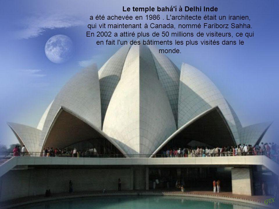 Le temple bahá í à Delhi Inde