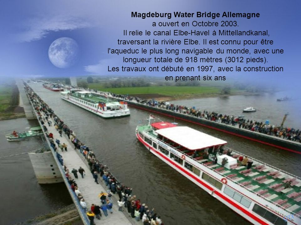 Magdeburg Water Bridge Allemagne