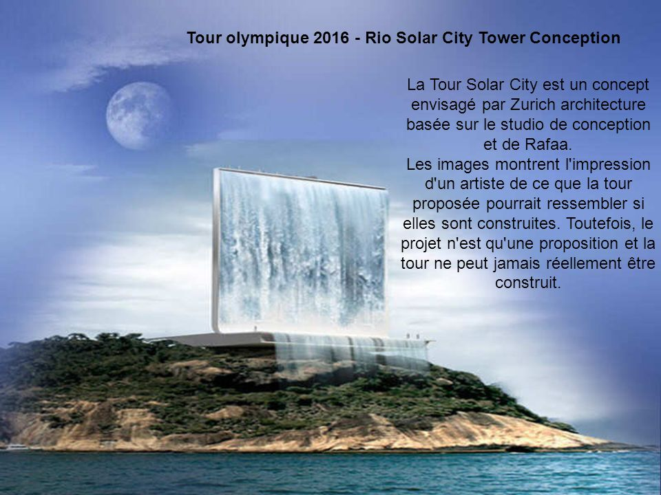 Tour olympique 2016 - Rio Solar City Tower Conception