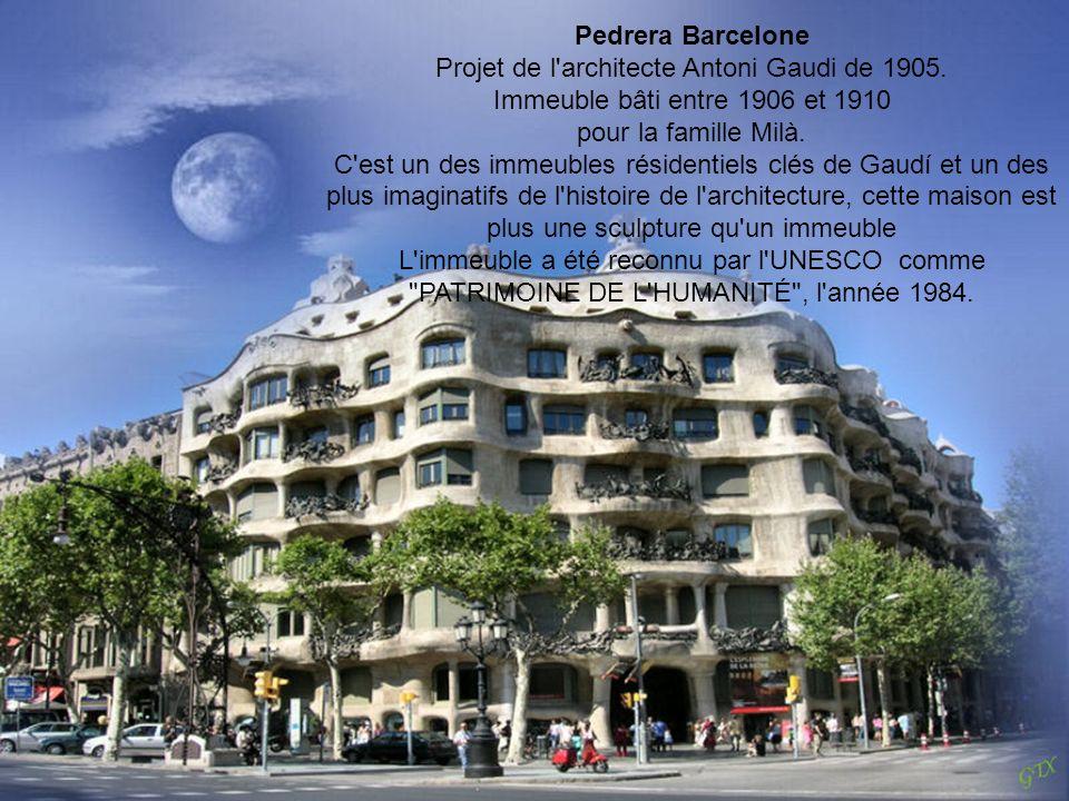 Projet de l architecte Antoni Gaudi de 1905.