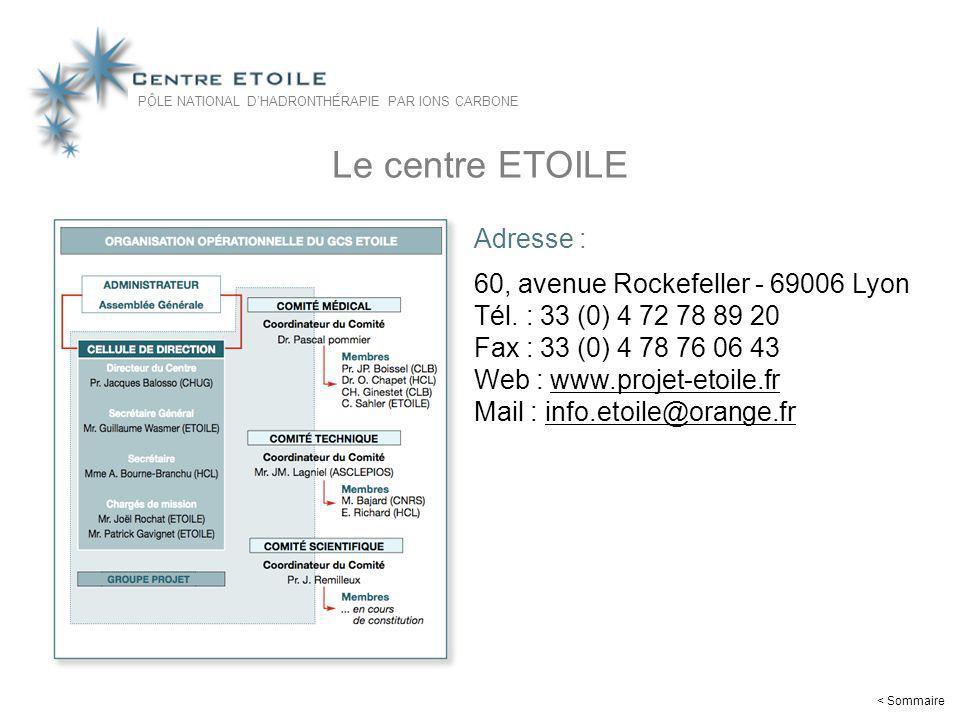 Le centre ETOILE Adresse : 60, avenue Rockefeller - 69006 Lyon