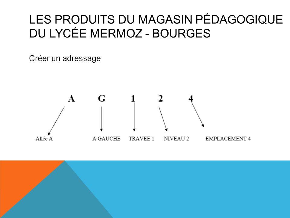 Les produits du magasin pédagogique du Lycée mermoz - BOURGES