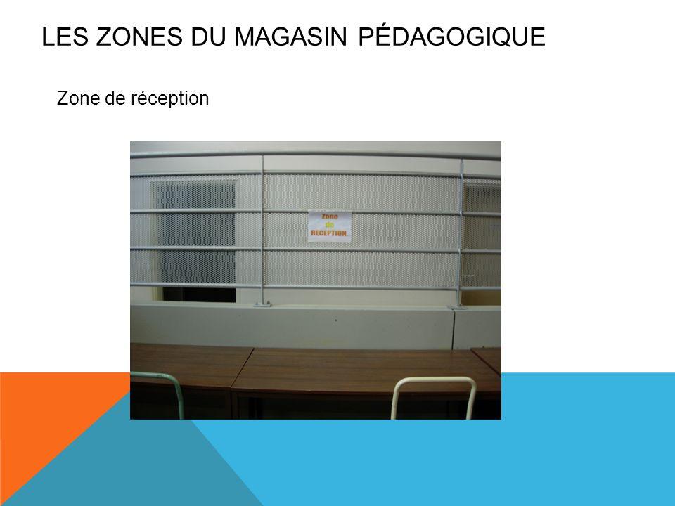 LES ZONES du magasin pédagogique