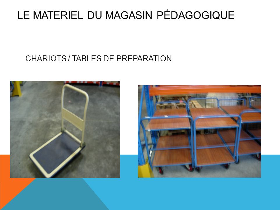 CHARIOTS / TABLES DE PREPARATION