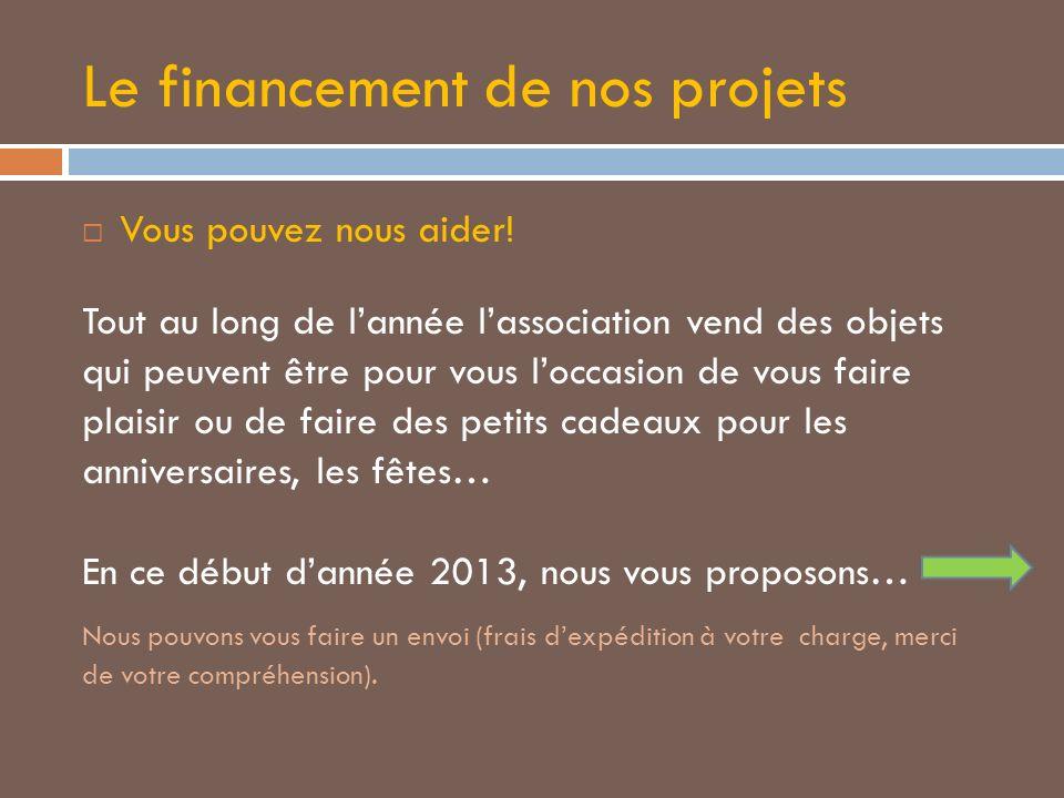 Le financement de nos projets