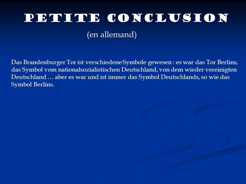Petite conclusion (en allemand)