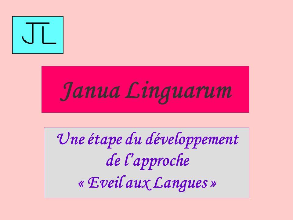 Une étape du développement de l'approche « Eveil aux Langues »