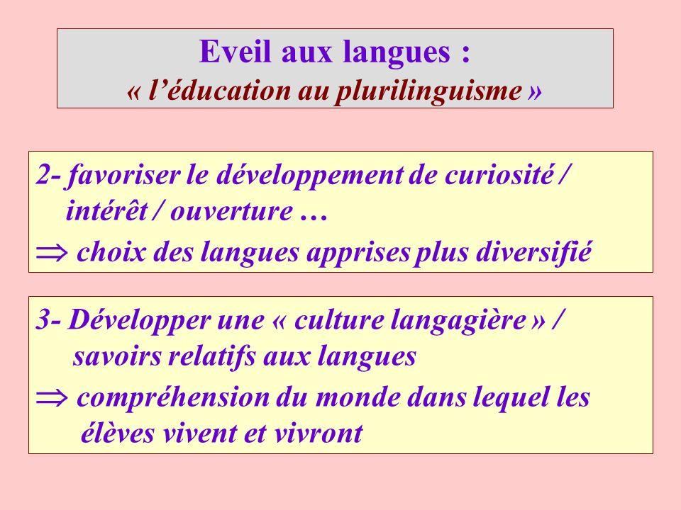 « l'éducation au plurilinguisme »