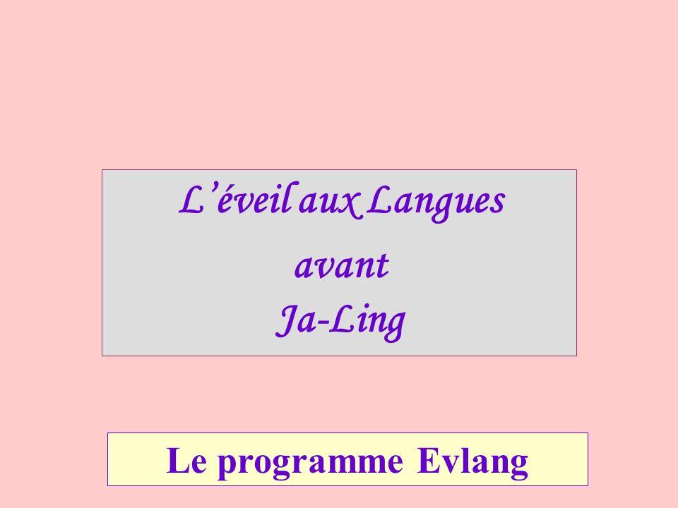 L'éveil aux Langues avant Ja-Ling