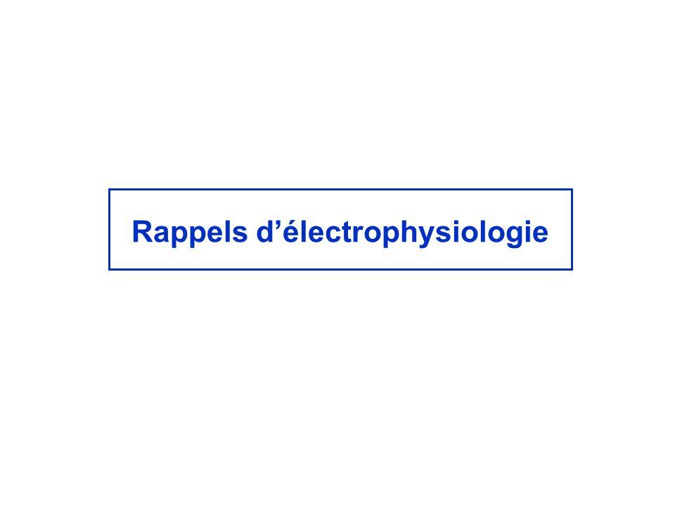 Rappels d'électrophysiologie