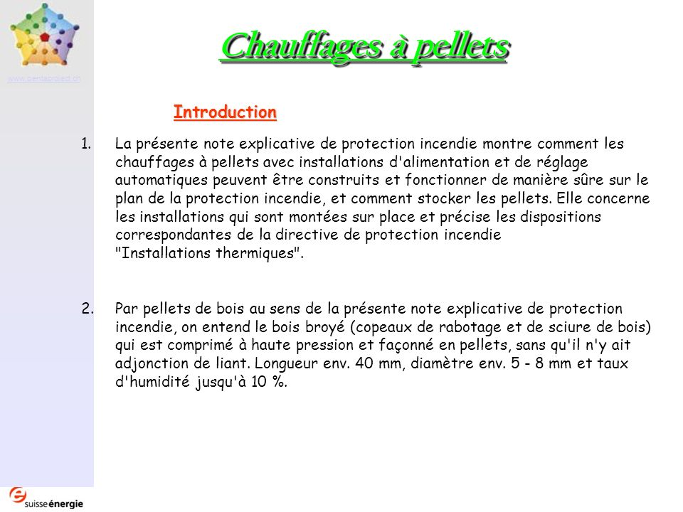 Chauffages à pellets Introduction