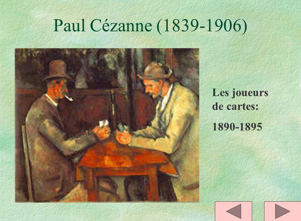 Paul Cézanne (1839-1906) Les joueurs de cartes: 1890-1895