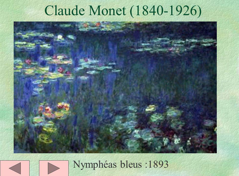 Claude Monet (1840-1926) Nymphéas bleus :1893