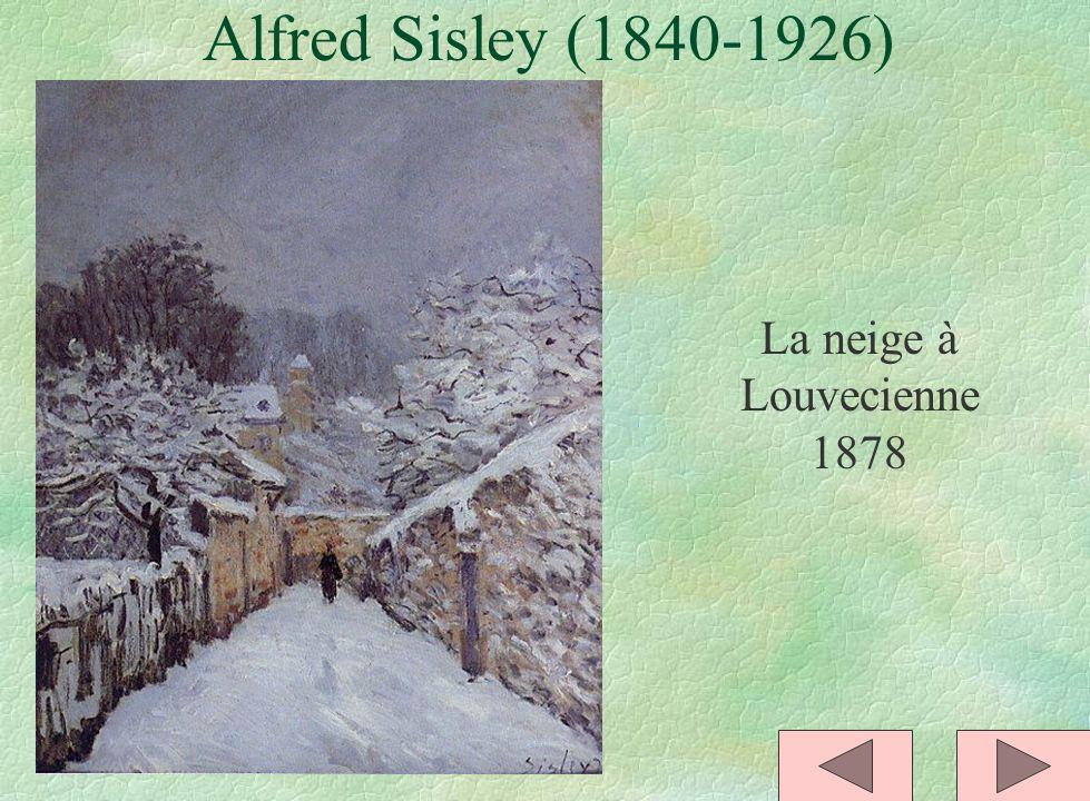 Alfred Sisley (1840-1926) La neige à Louvecienne 1878