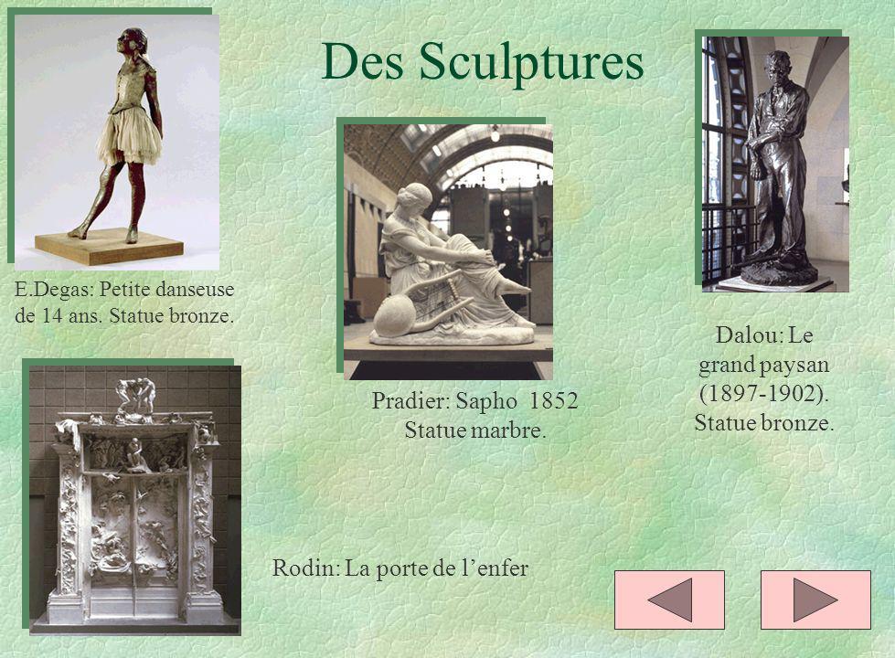 Des Sculptures Dalou: Le grand paysan (1897-1902). Statue bronze.