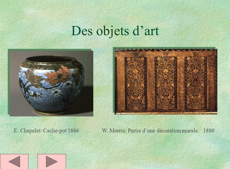 Des objets d'art E. Chapelet: Cache-pot 1886